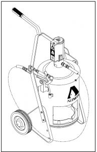 Bơm mỡ di động dùng khí nén áp lực cao 9911-A1