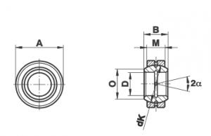 Bạc cầu loại GE…E (-2RS)