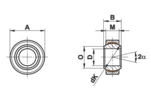 Bạc cầu loại GE…EC (-2RS)
