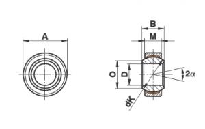 Bạc cầu loại GE…EC-NIRO (-2RSF)