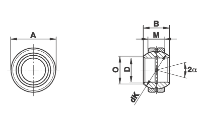 Bạc cầu loại GE…FO (-2RS)