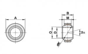 Bạc cầu loại GE…FW (-2RS)